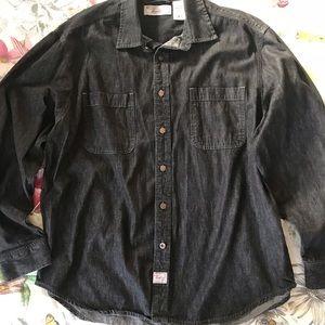LEVI's black denim button down shirt